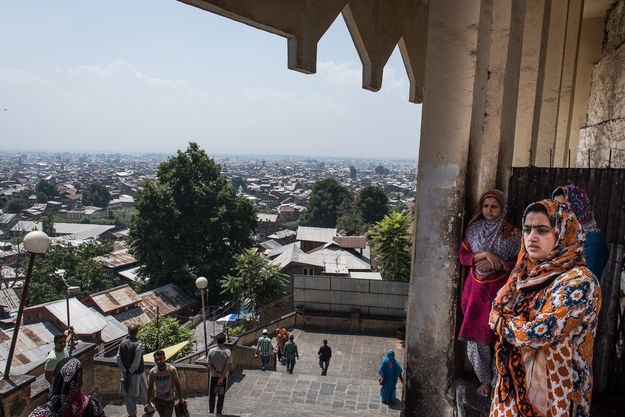 Women at mosque in srinagar kashmir