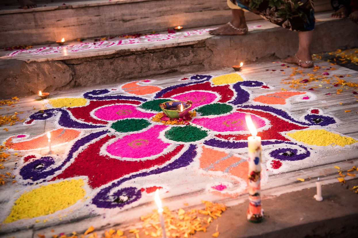 rangoli in pushkar