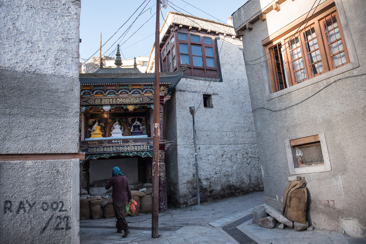 temple in the streets of leh ladakh
