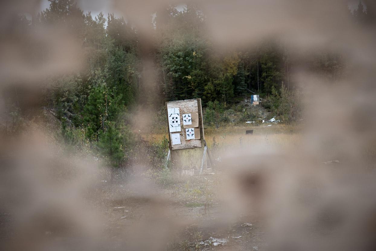Shooting ranch near Teslin, Yukon