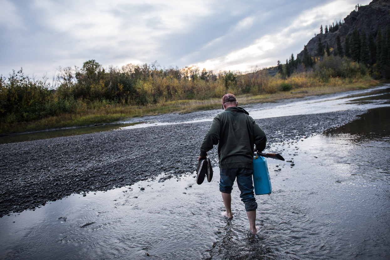 Hunter Doug Martens is following moose tracks
