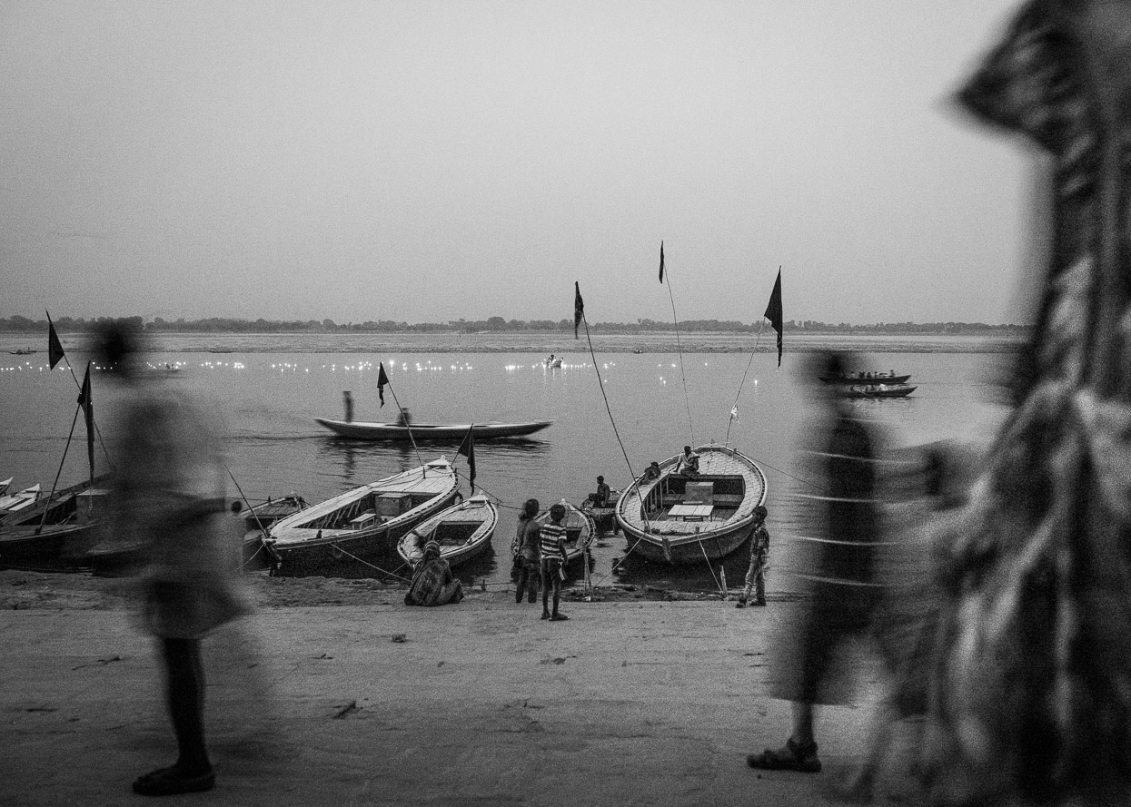 Evening at the ghats in Varanasi India