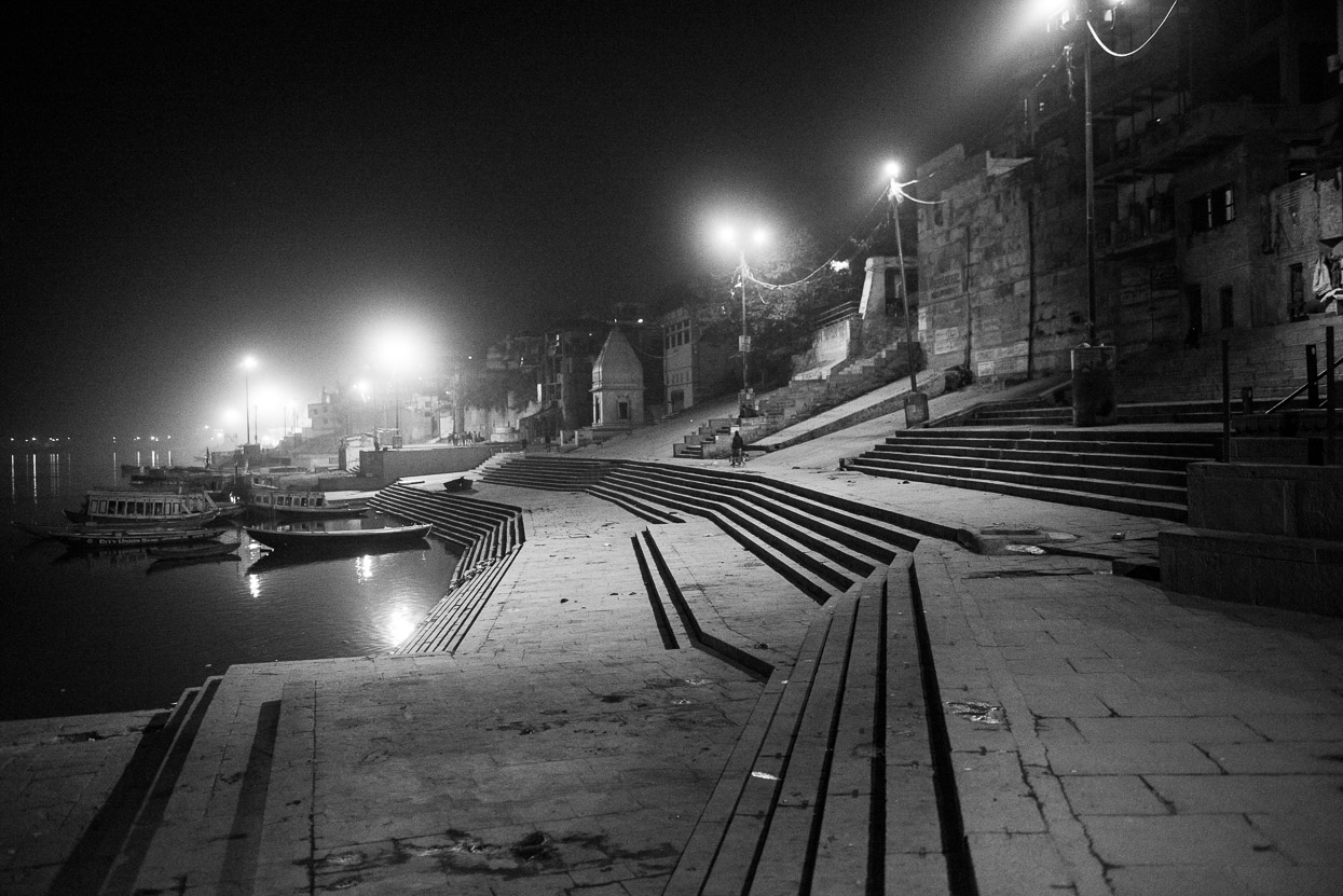 A nightly stroll along the ghats in Varanasi India