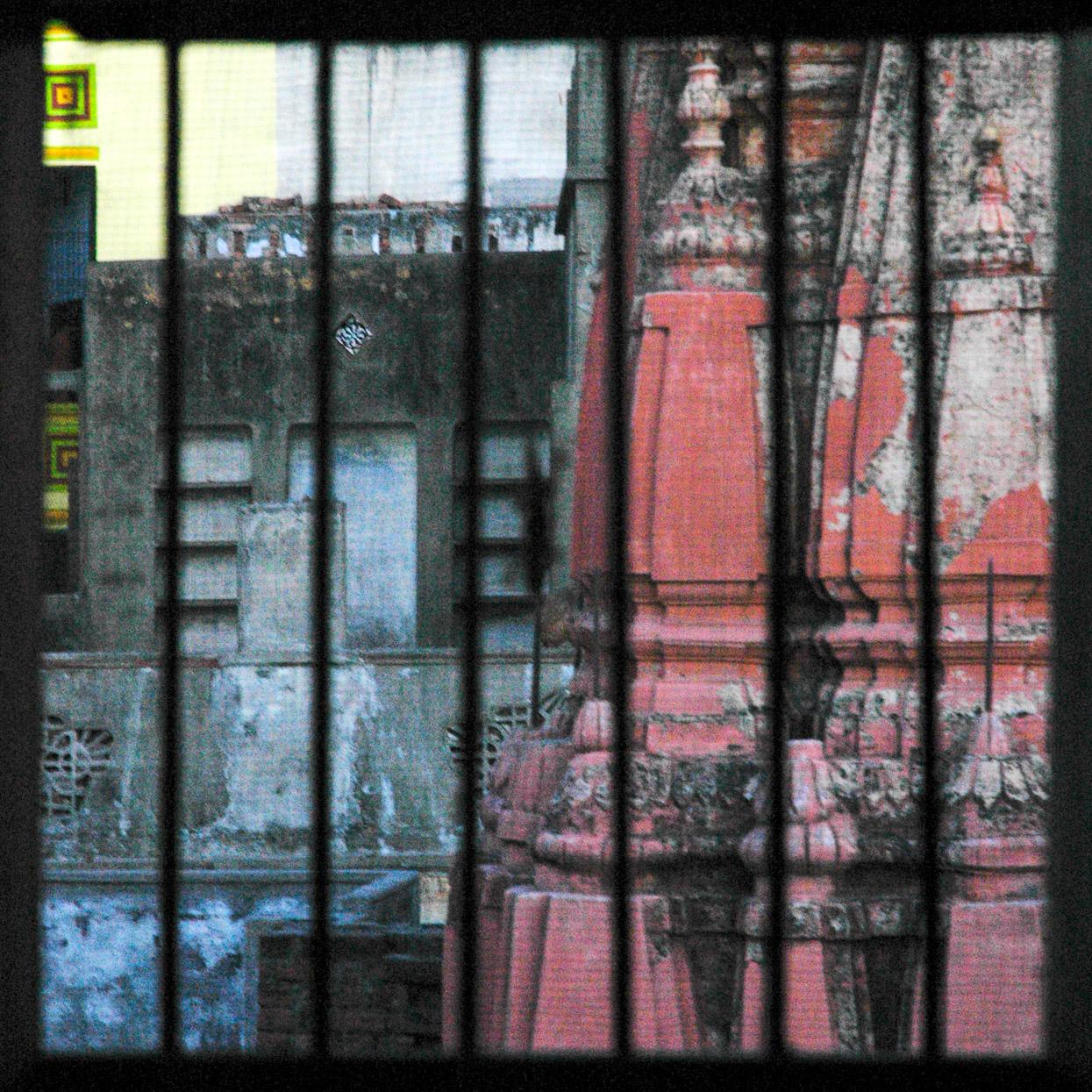 view from room at bengali tola in varanasi india